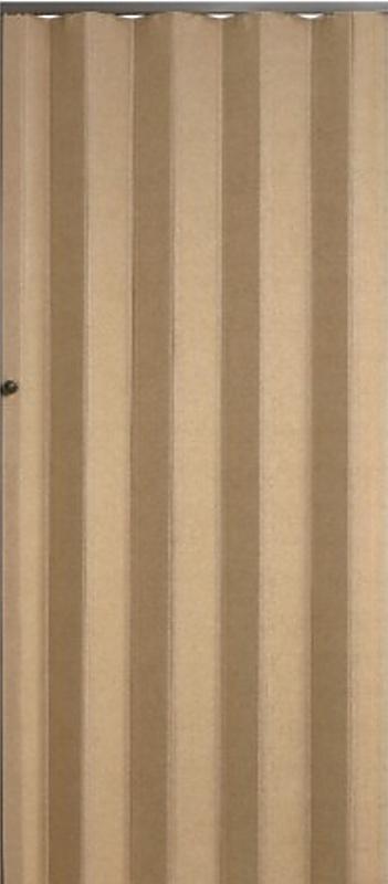 PETROMILA shrnovací dveře koženkové béžové 83 x200 cm